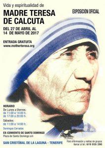Exposición Madre Teresa de Calcuta Tenerife Cartel